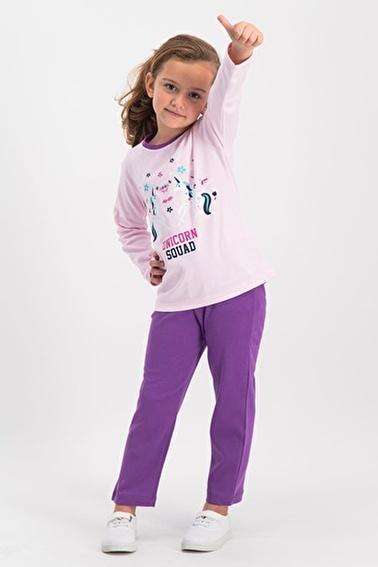 Roly Poly Kız Çocuk Pijama Takımı Pudra
